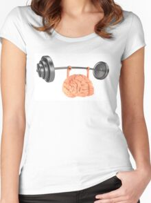 Heavy Weight Brain Women's Fitted Scoop T-Shirt