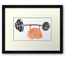 Heavy Weight Brain Framed Print