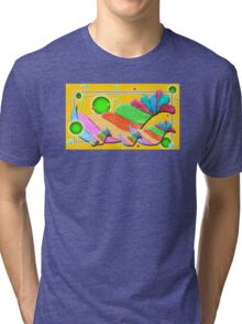 Swirlie Birdz Tri-blend T-Shirt
