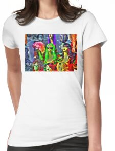 Wig Out Womens Fitted T-Shirt