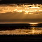 Western Super Mare Beach Golden Sunset by Pixie Copley LRPS