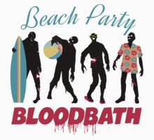 Funny zombies summer fun beach party by BigMRanch