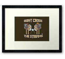 Don't cross the streams Framed Print