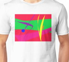 Abstract Pattern Red and Green Contrast Unisex T-Shirt