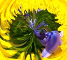 Bluebell in Dandelion globe abstract, Sticker