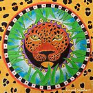 Mandala - Courage Power Strength by carol selchert