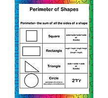 Perimeter Math Rainbow Background Photographic Print