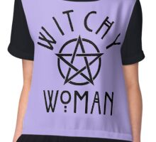 Witchy Woman with Pentagram Chiffon Top