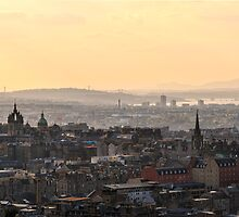 Edinburgh Sunset from Salisbury Crags by Miles Gray