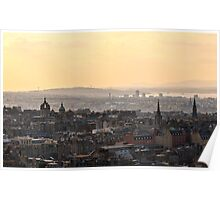 Edinburgh Sunset from Salisbury Crags Poster