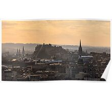 Edinburgh Castle Sunset from Salisbury Crags Poster