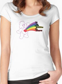 Stare Bear Women's Fitted Scoop T-Shirt