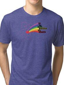 Stare Bear Tri-blend T-Shirt