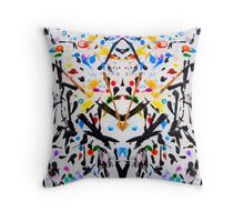 The Garden in Abstract Throw Pillow