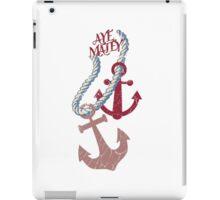 aye matey nautical anchors rope boating sailing iPad Case/Skin