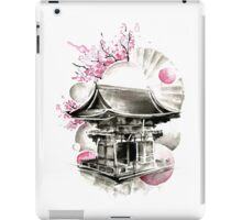 Japanese House Ink Illustration iPad Case/Skin
