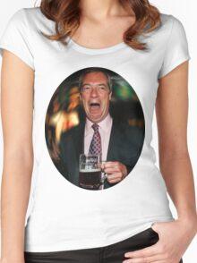 Nigel Farage Women's Fitted Scoop T-Shirt