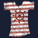 Hipster Americana nautical grunge t-shirt boat wheel by BigMRanch