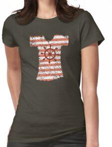 Hipster Americana nautical grunge t-shirt boat wheel Womens Fitted T-Shirt