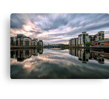 The Shore, Edinburgh Long Exposure Sunset Canvas Print