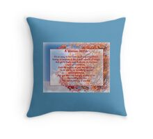 A Woman Within Pillow Throw Pillow