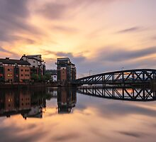 Long Exposure: Victoria Swing Bridge at the Shore, Edinburgh  by Miles Gray