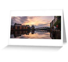 Long Exposure: Victoria Swing Bridge at the Shore, Edinburgh  Greeting Card