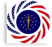 Indiana Murican Patriot Flag Series Canvas Print