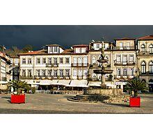 Camoes square in Ponte de Lima, Portugal Photographic Print
