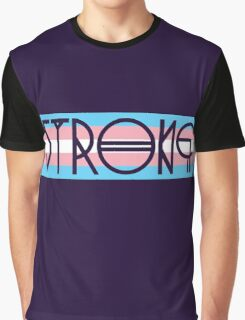 Strong Trans Pride Flag Graphic T-Shirt