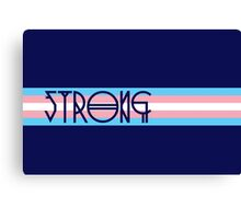 Strong Trans Pride Flag Canvas Print