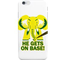 He Gets on Base! Elephant! iPhone Case/Skin