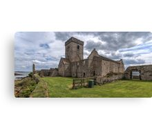 Inchcolm Abbey, Chapter and Warming House in Fife. Scotland Canvas Print