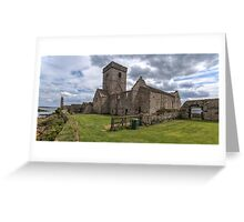 Inchcolm Abbey, Chapter and Warming House in Fife. Scotland Greeting Card