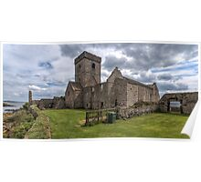 Inchcolm Abbey, Chapter and Warming House in Fife. Scotland Poster