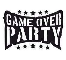 Stempel Sterne Game Over Party by Style-O-Mat