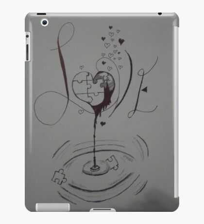 Broken puzzle of love  iPad Case/Skin
