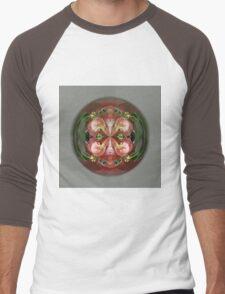 Four Flower Globe Men's Baseball ¾ T-Shirt