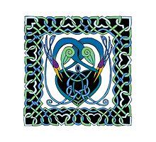 """In Flight"" Celtic Peacock Design (Border) by Catie Atkinson"