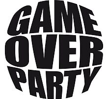 Rounded Game Over Party Logo by Style-O-Mat