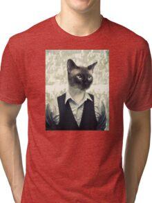 Fancy Cat Tri-blend T-Shirt