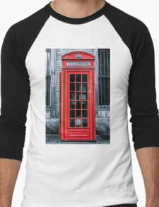London - Telephone booth alone Men's Baseball ¾ T-Shirt