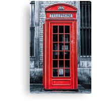 London - Telephone booth alone Canvas Print