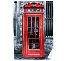London - Telephone booth alone Poster