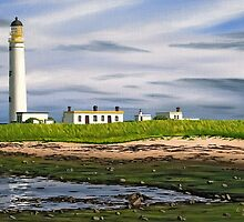 Barns Ness Lighthouse, Scotland by Linda Marques