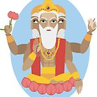 illustration of Hindu deity lord Brahma by OlgaBerlet