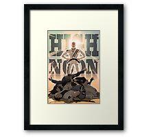 Jiu Jitsu Hero- High Noon Framed Print