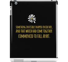 John Green -- Looking For Alaska -- Fall Apart iPad Case/Skin