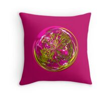 Its a purple and yellow flower in the globe Throw Pillow