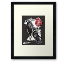 rose and crow  Framed Print